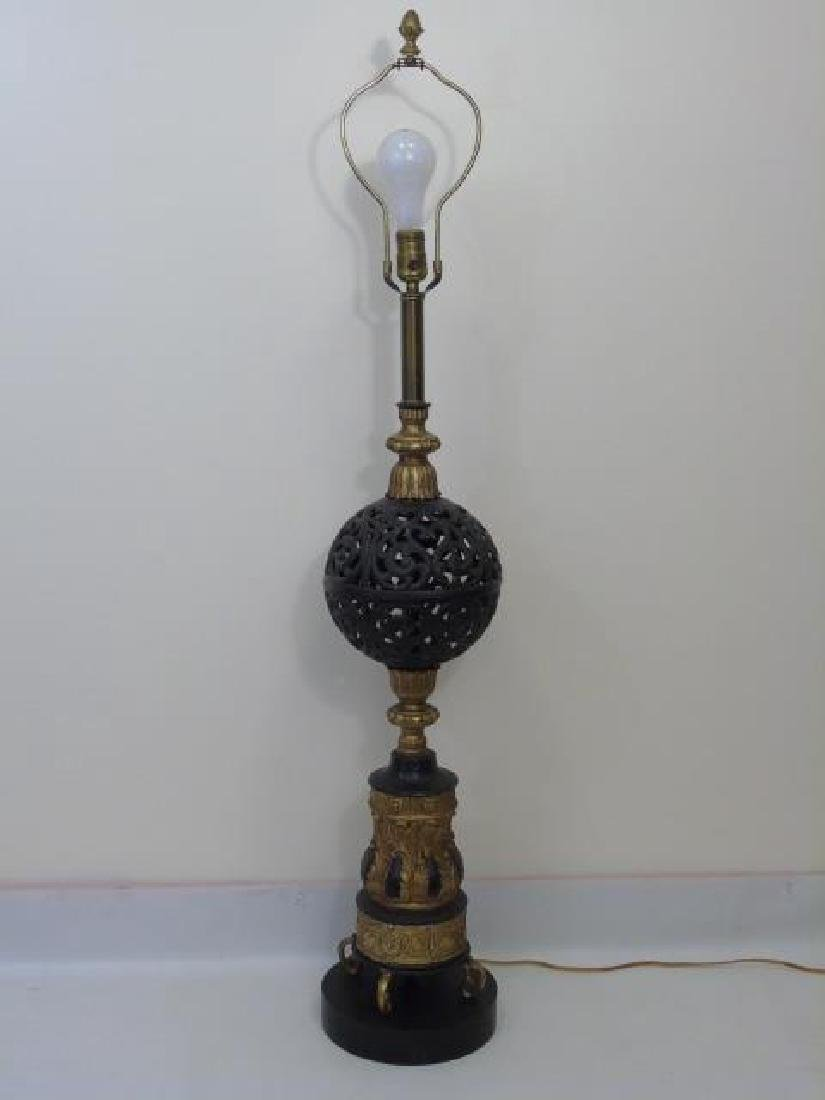 Mid Century Mixed Metals Table Lamp
