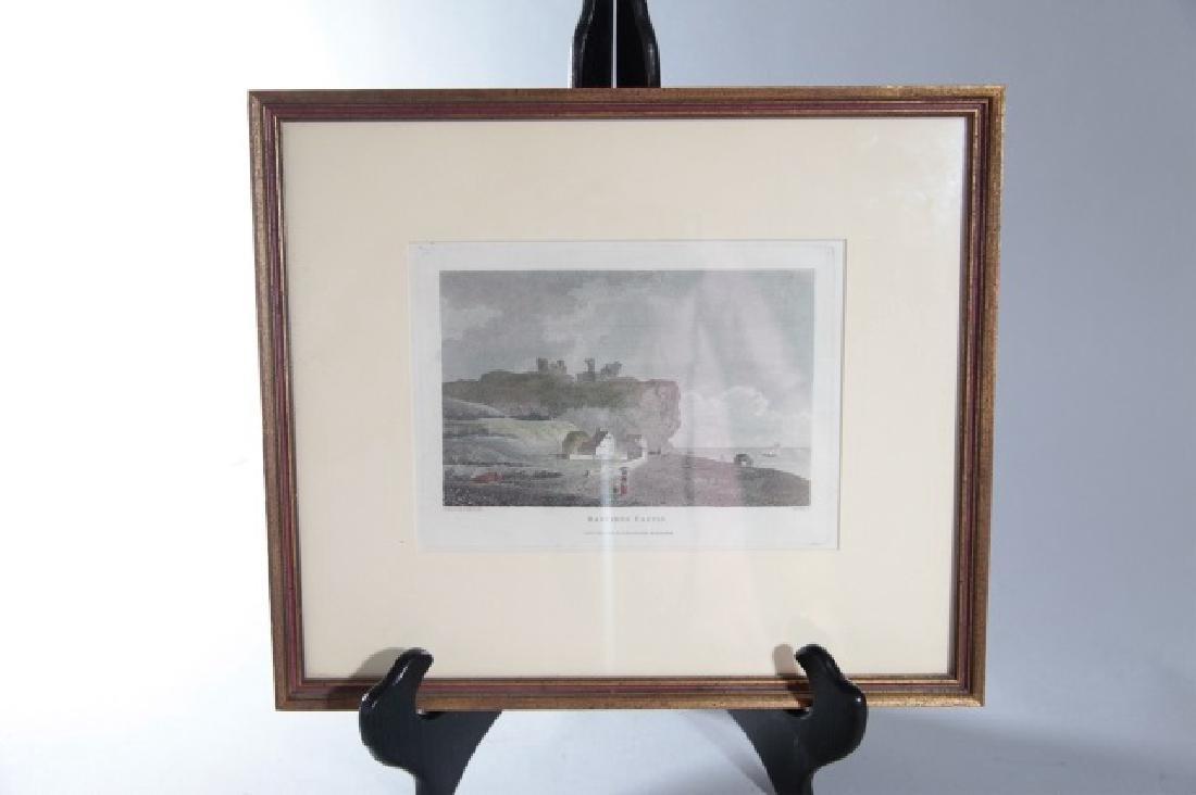 Pair English Engravings St. Ives & Hastings Castle - 2