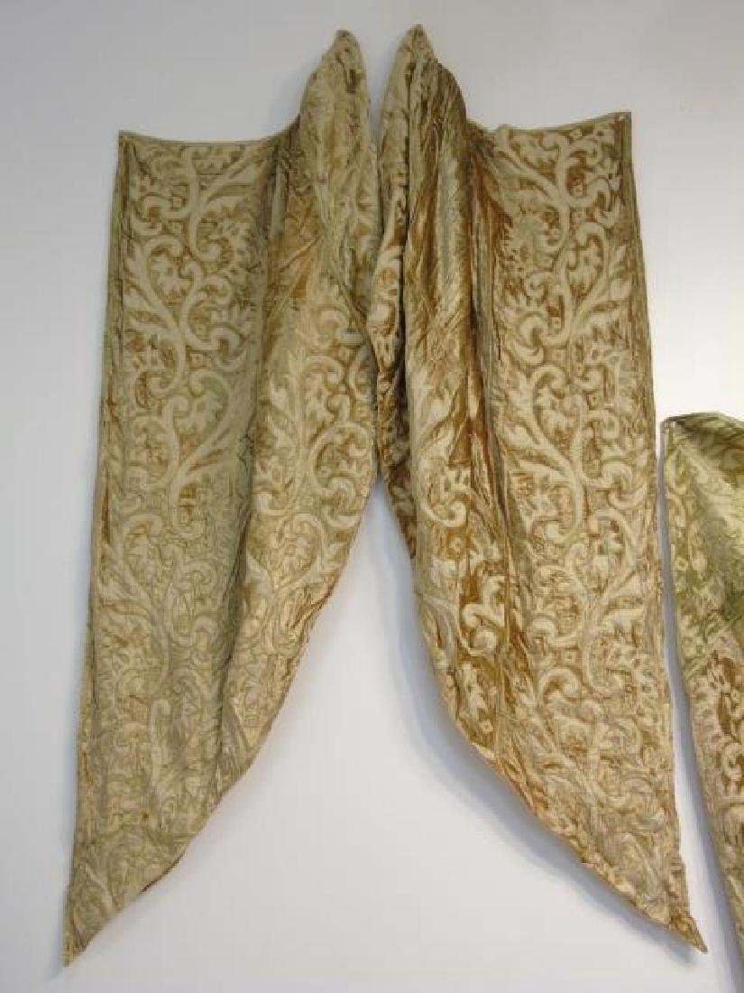 Custom Made Zuber Paris Gold Velvet Curtain Jabots - 4