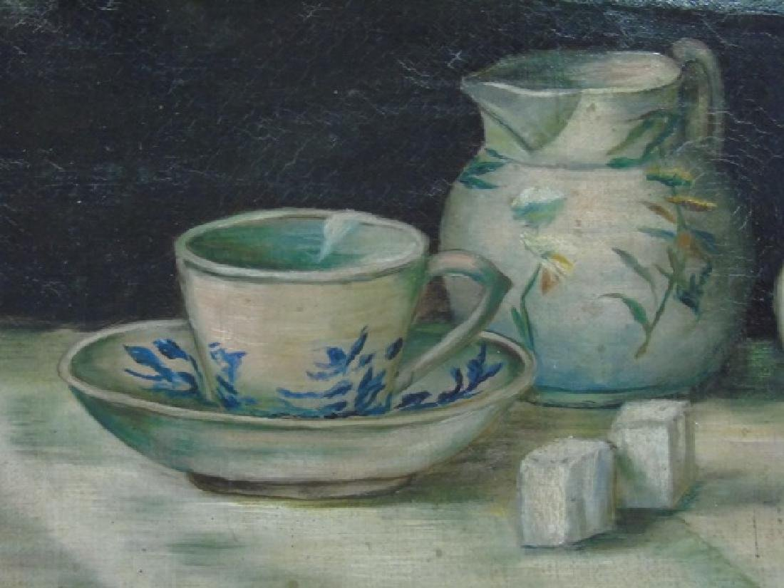 Mary Louise McConnico 1921 Still Life Blue & White - 2