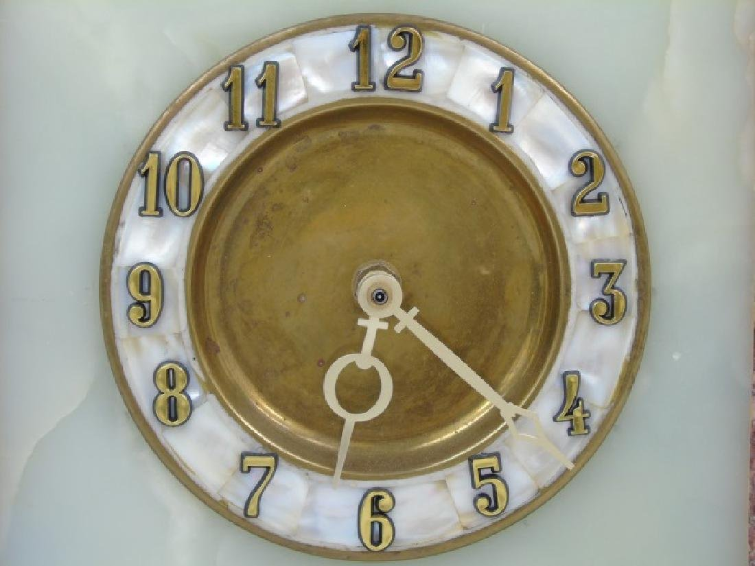 Art Deco Style Marble & Mother of Pearl Clock - 4