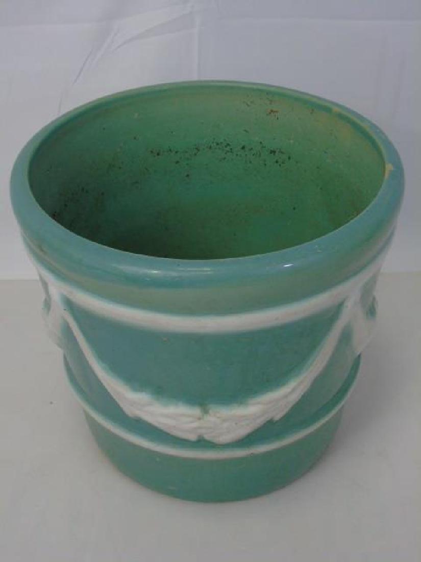 Vintage Neo Classical Style Porcelain Planter Pot - 2