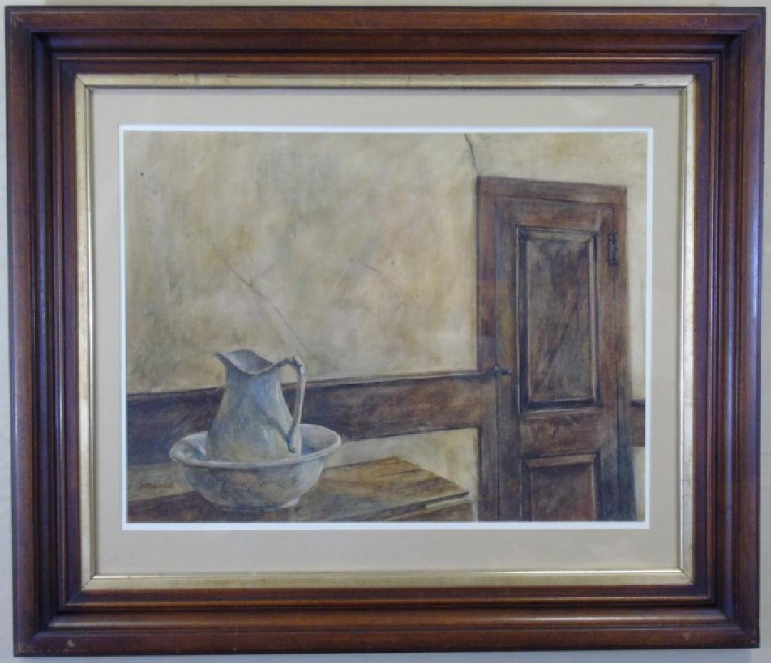 Interior of a Room w/ Pitcher Signed Maria