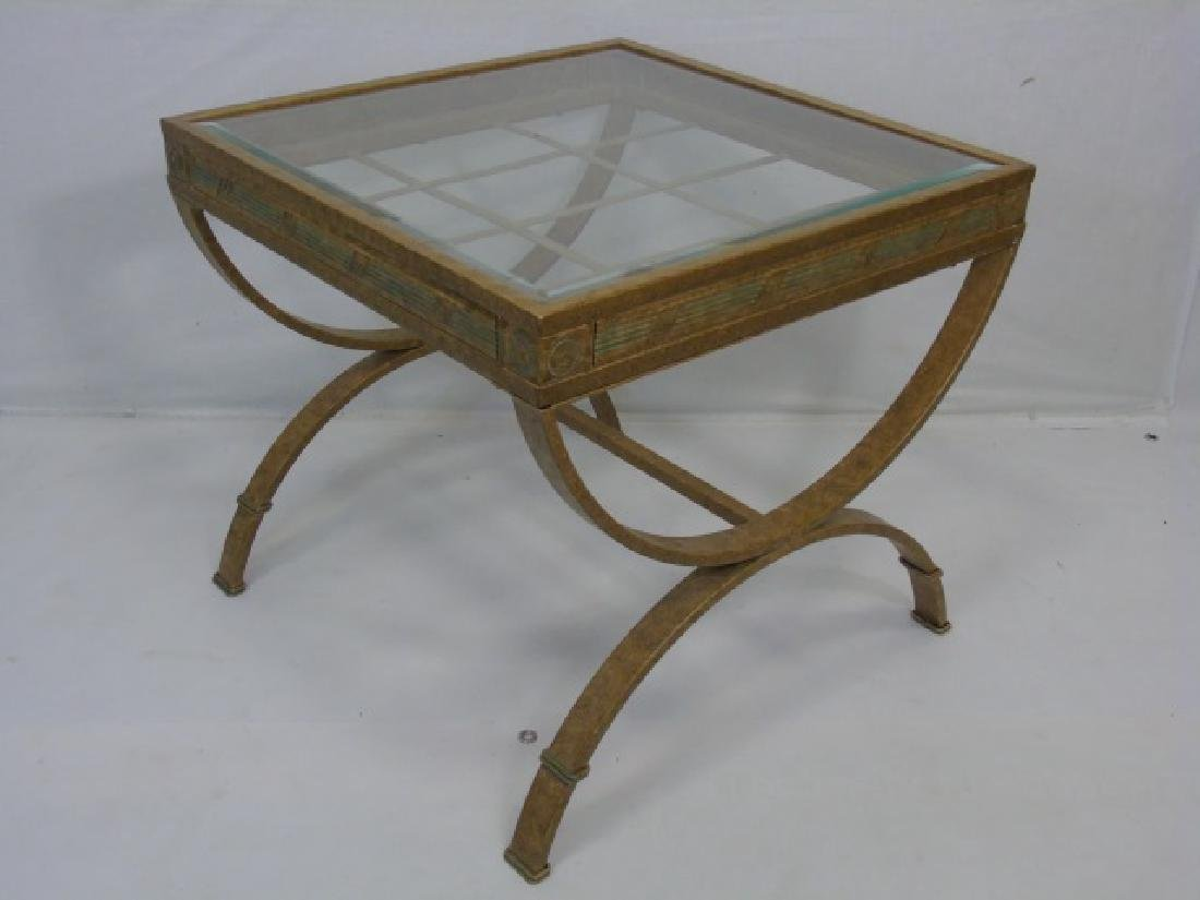 Pair Contemporary Metal Frame End Tables - 4