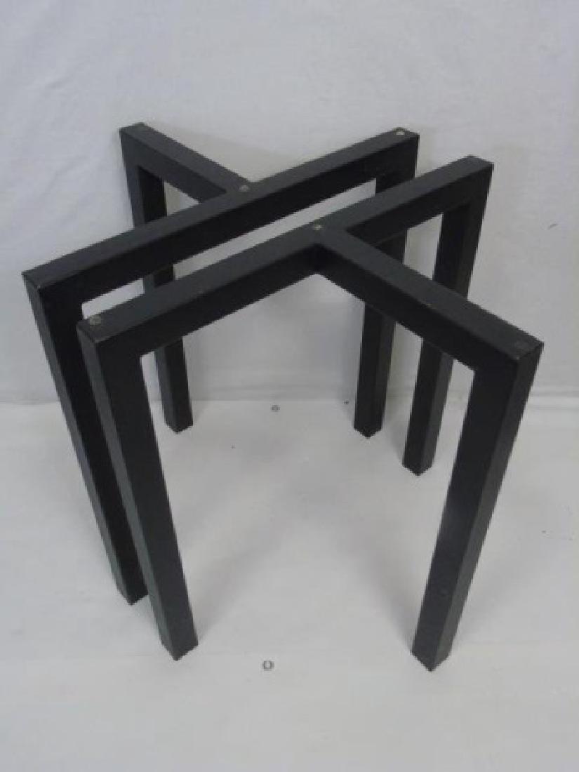 Contemporary Modern Black Metal Table Base