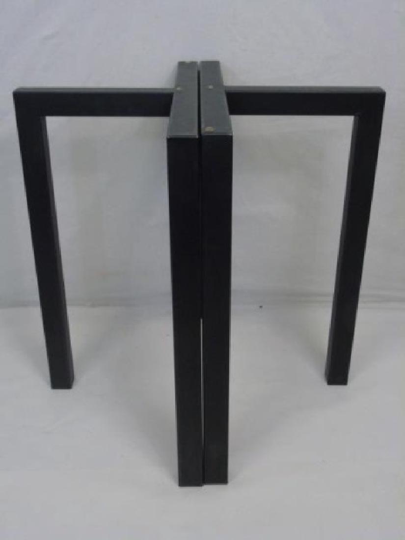 Contemporary Modern Black Metal Table Base - 2