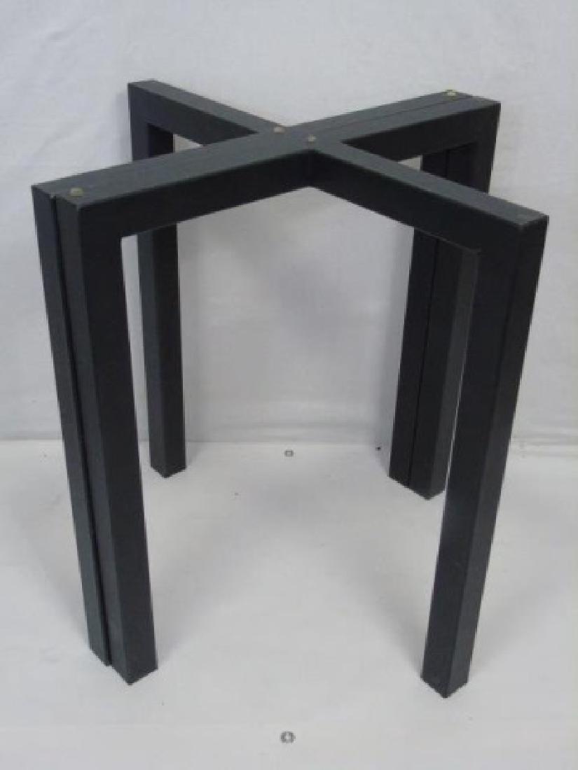 Contemporary Modern Black Metal Table Base - 3