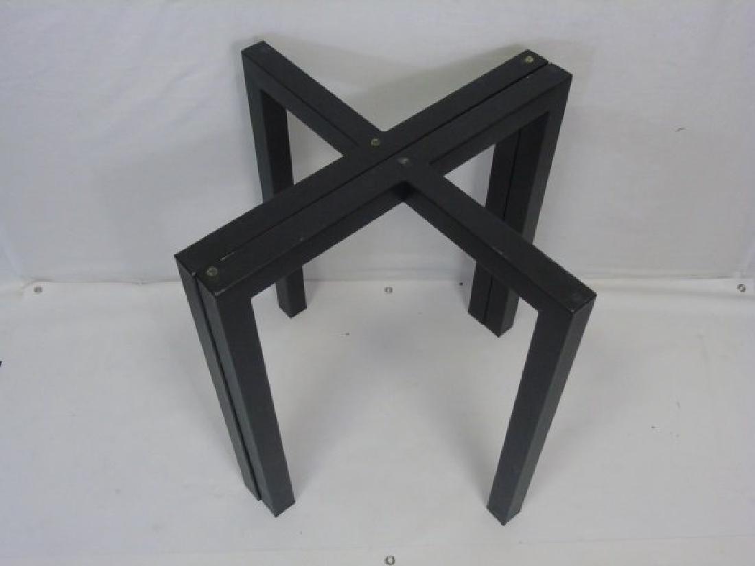 Contemporary Modern Black Metal Table Base - 4