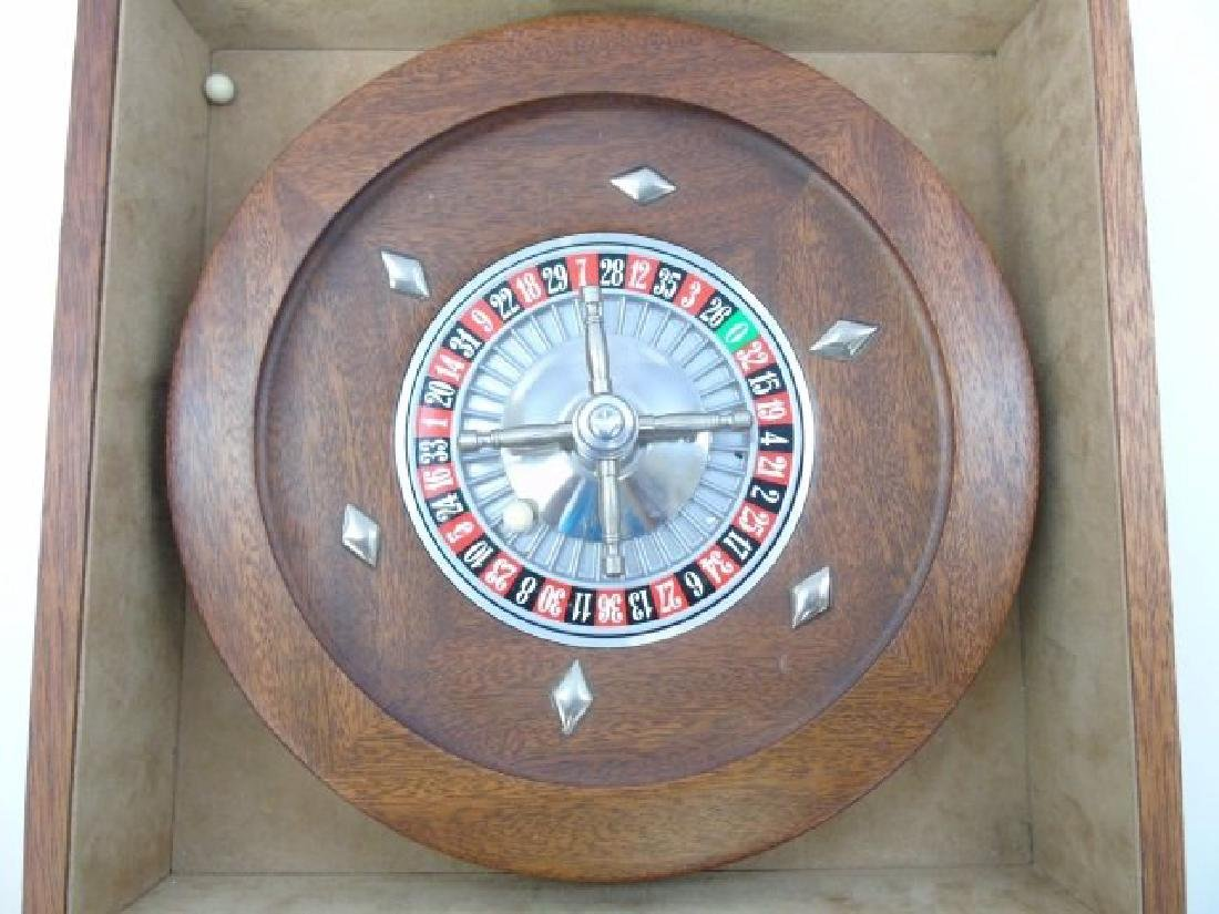 Vintage Burled Wood Roulette Games Table Piece - 4
