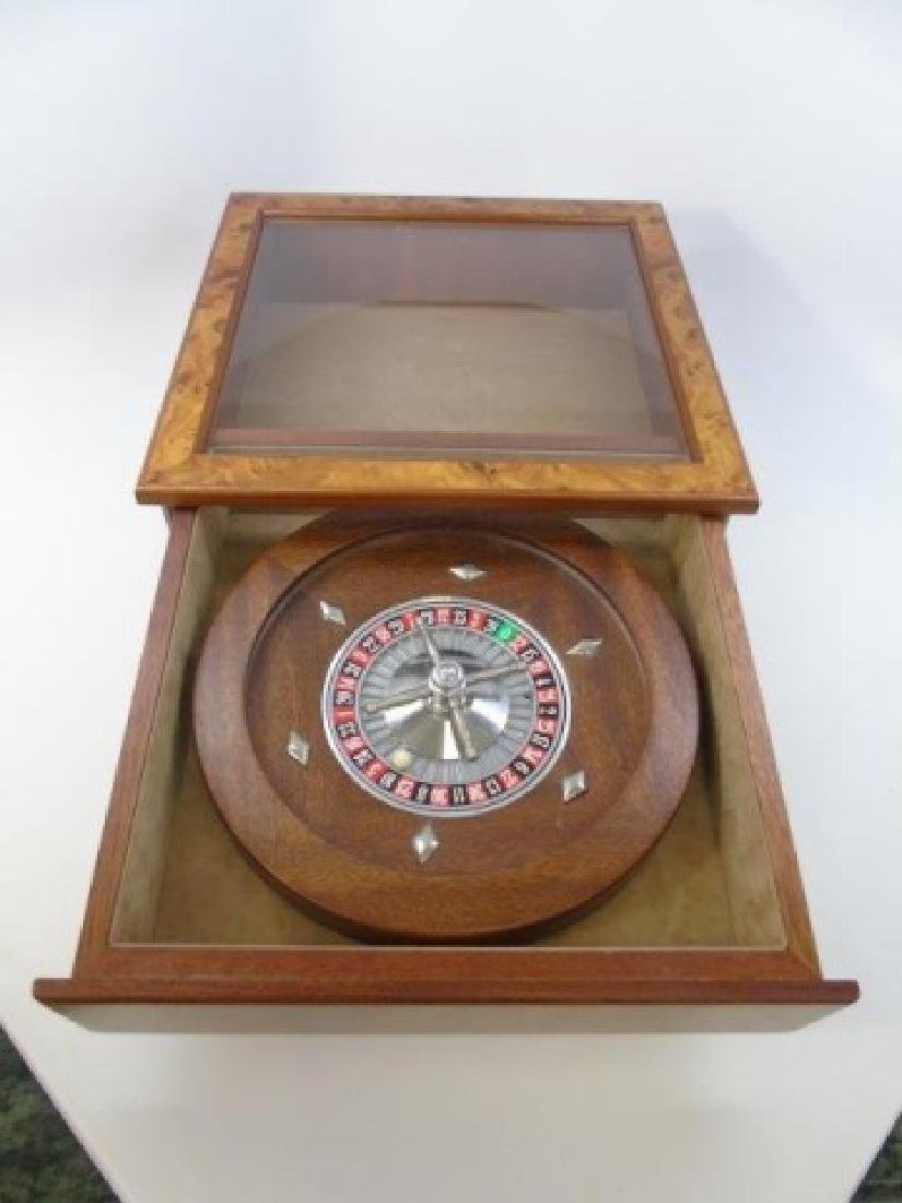 Vintage Burled Wood Roulette Games Table Piece - 5