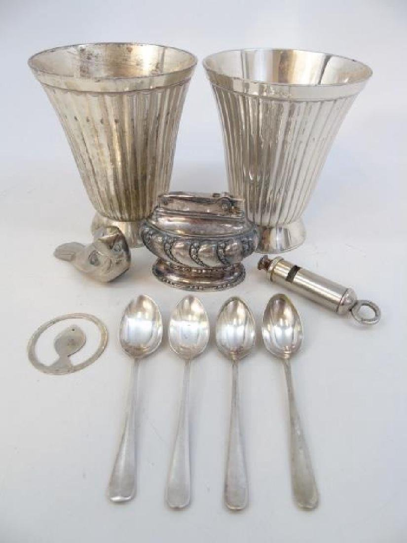 Sterling Silver & Silverplate Table Items Lighter