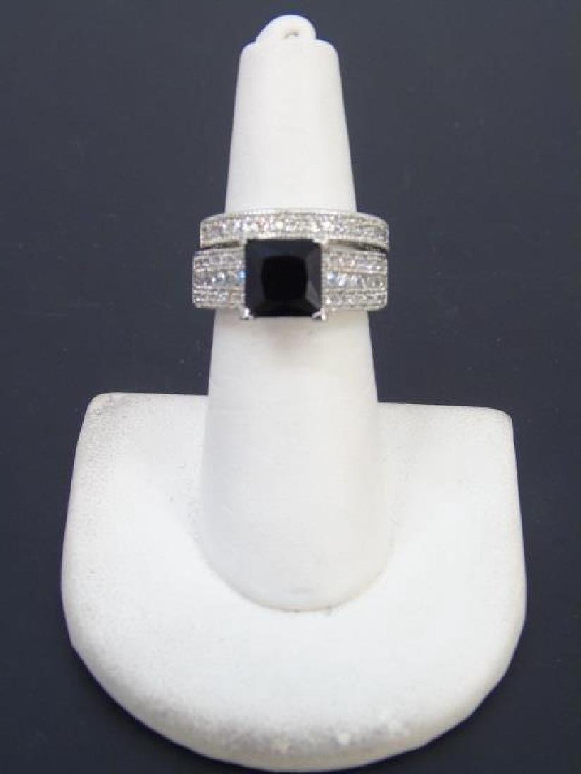 Sterling Silver Engagement Ring & Band Pairing