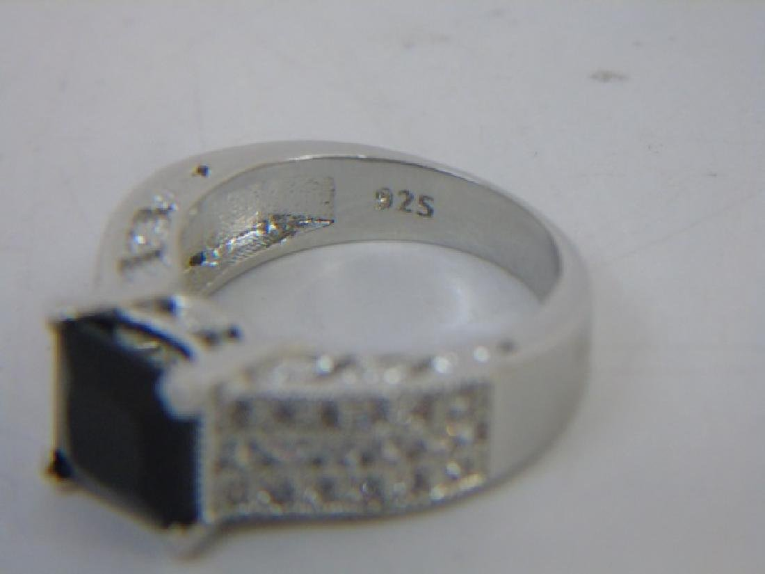 Sterling Silver Engagement Ring & Band Pairing - 2