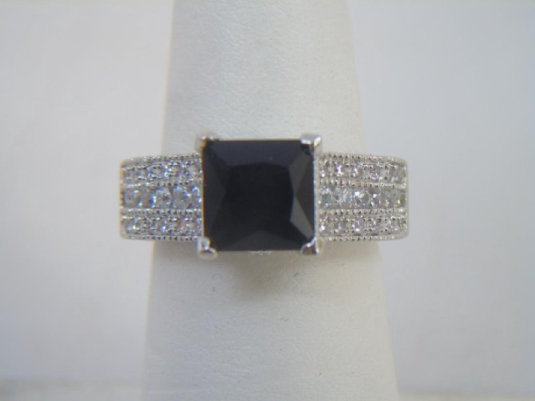 Sterling Silver Engagement Ring & Band Pairing - 3