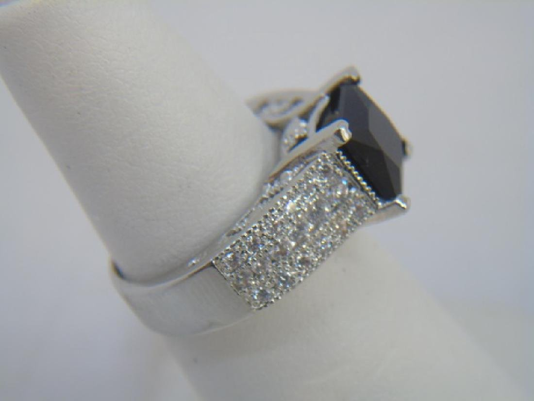 Sterling Silver Engagement Ring & Band Pairing - 4
