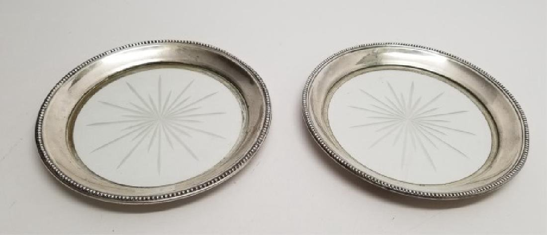 Pair Cut Glass & Sterling Silver Frank M. Whiting