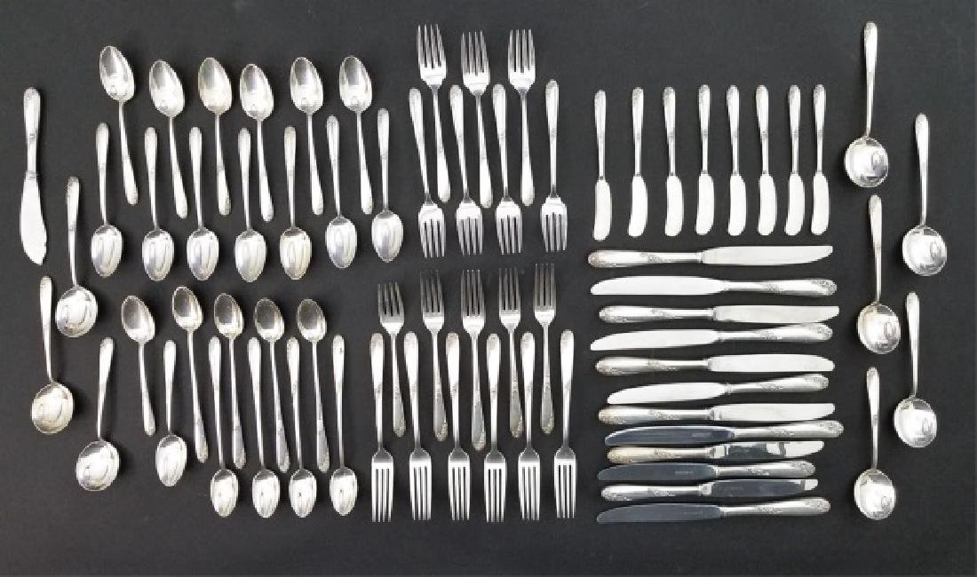 Lunt Sterling Silver Flatware Service for 8 Plus