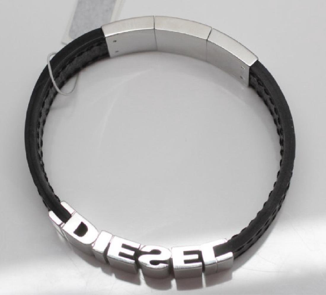 Diesel Leather & Stainless Steel Bracelet w Box