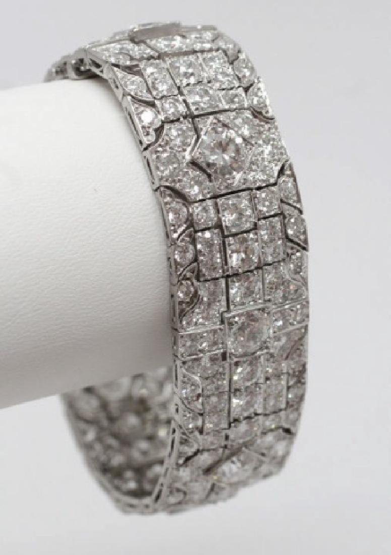 Estate Platinum Art Deco 30 Carat Diamond Bracelet