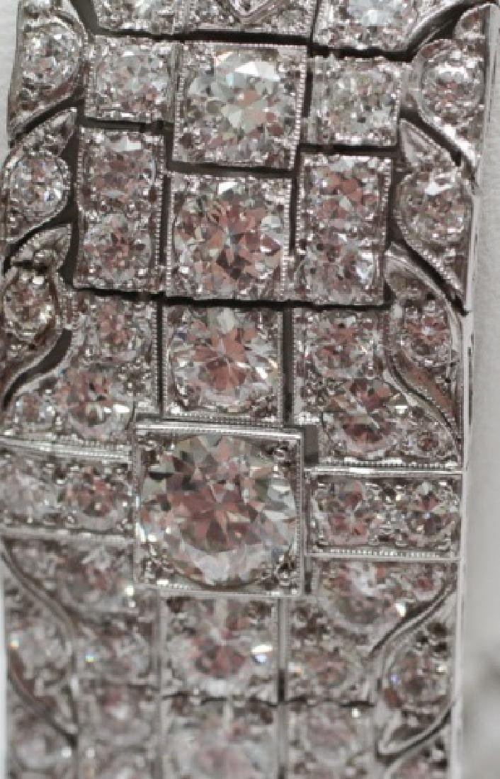 Estate Platinum Art Deco 30 Carat Diamond Bracelet - 6