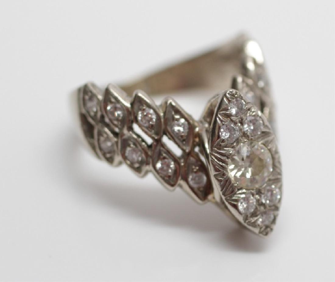 Estate 14kt Rose Gold & Diamond Engagement Ring