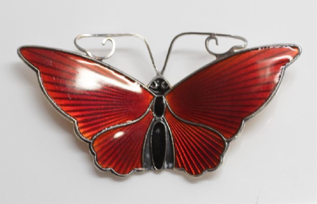 Vintage David Anderson Sterling & Enamel Butterfly