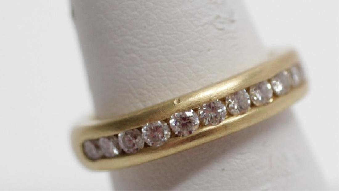 Estate 14kt Yellow Gold & Diamond Band Ring