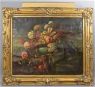 Wilhelm Kotze Antique Dutch Style Floral StillLife