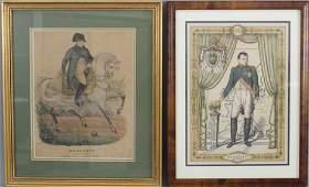 Pair Antique Engravings of Napoleon Bonaparte