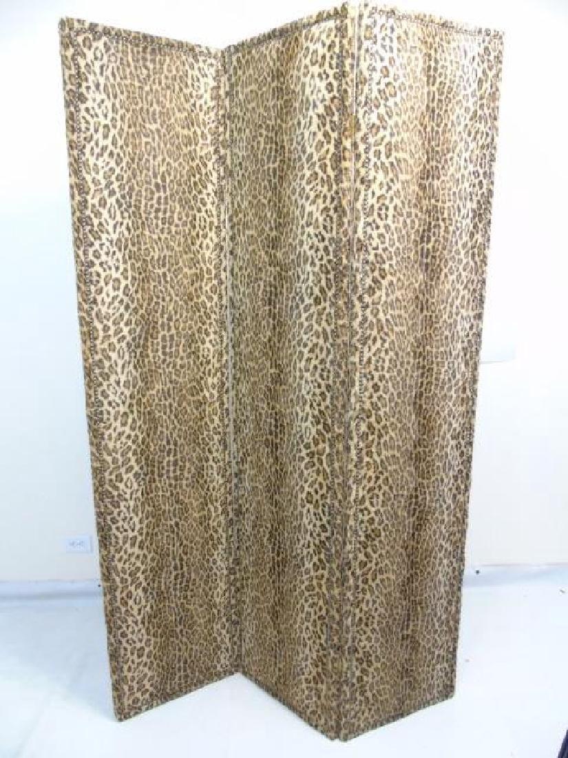 Custom Ralph Lauren Leopard Fabric Screen