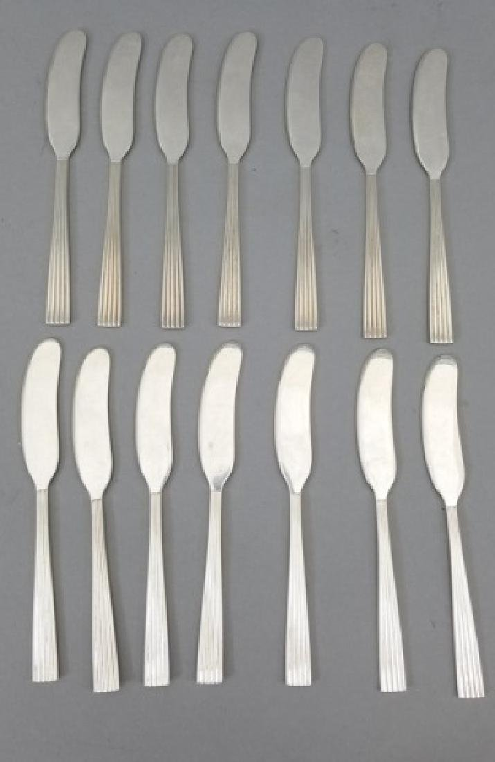 14 Buccellati Sterling Silver Butter Knives