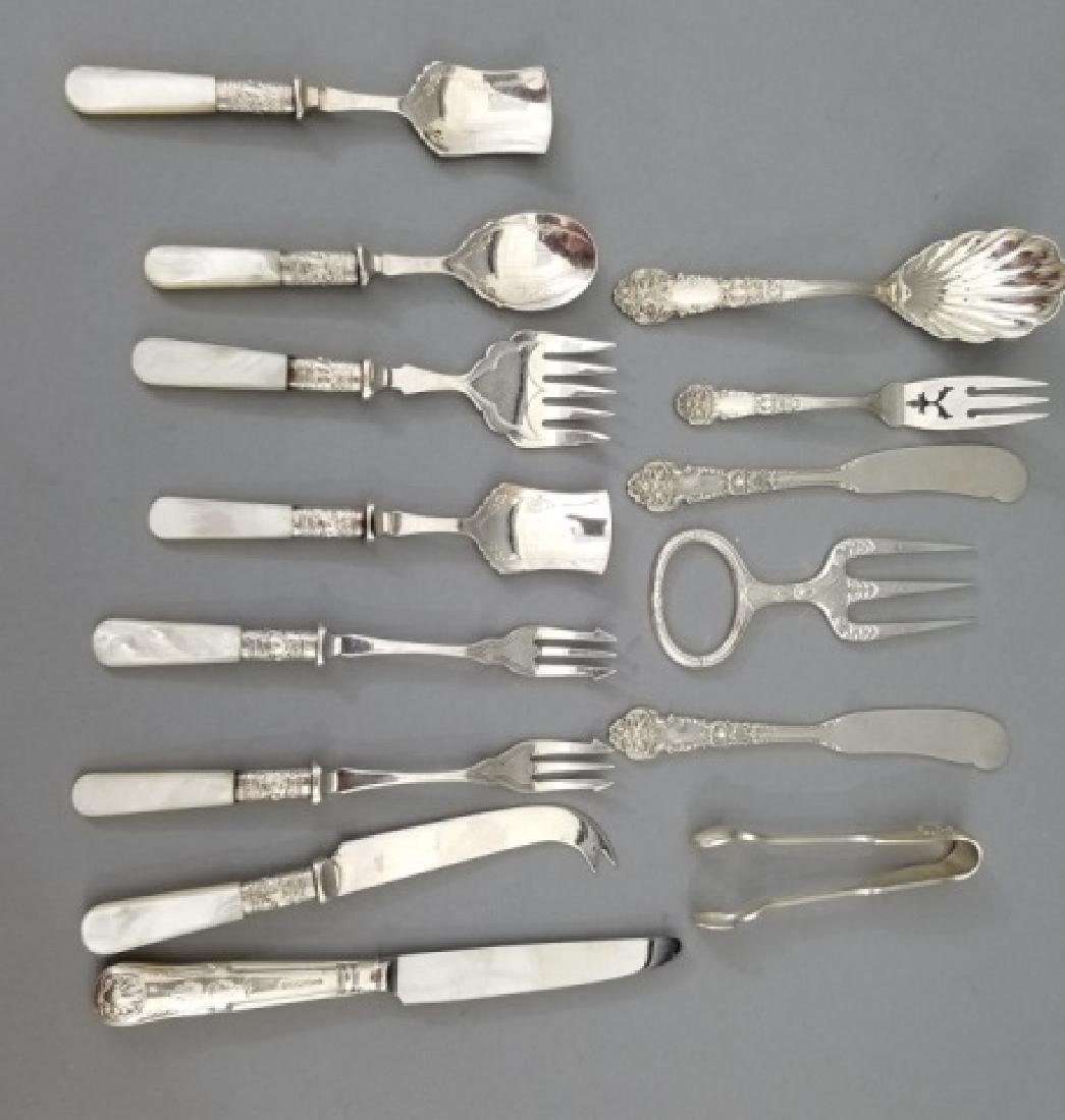 Assorted Sterling Silver & Silver Plate Utensils