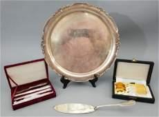 Christofle Cake Server  Assorted Silver Plate