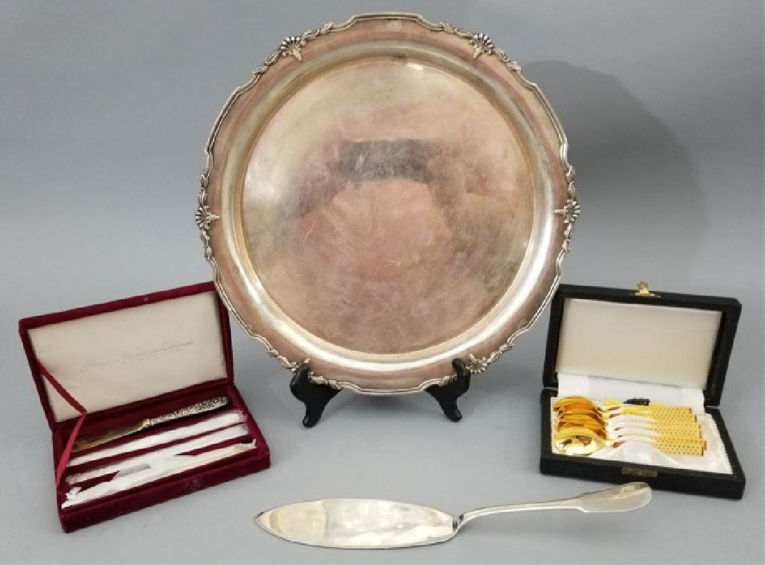 Christofle Cake Server & Assorted Silver Plate