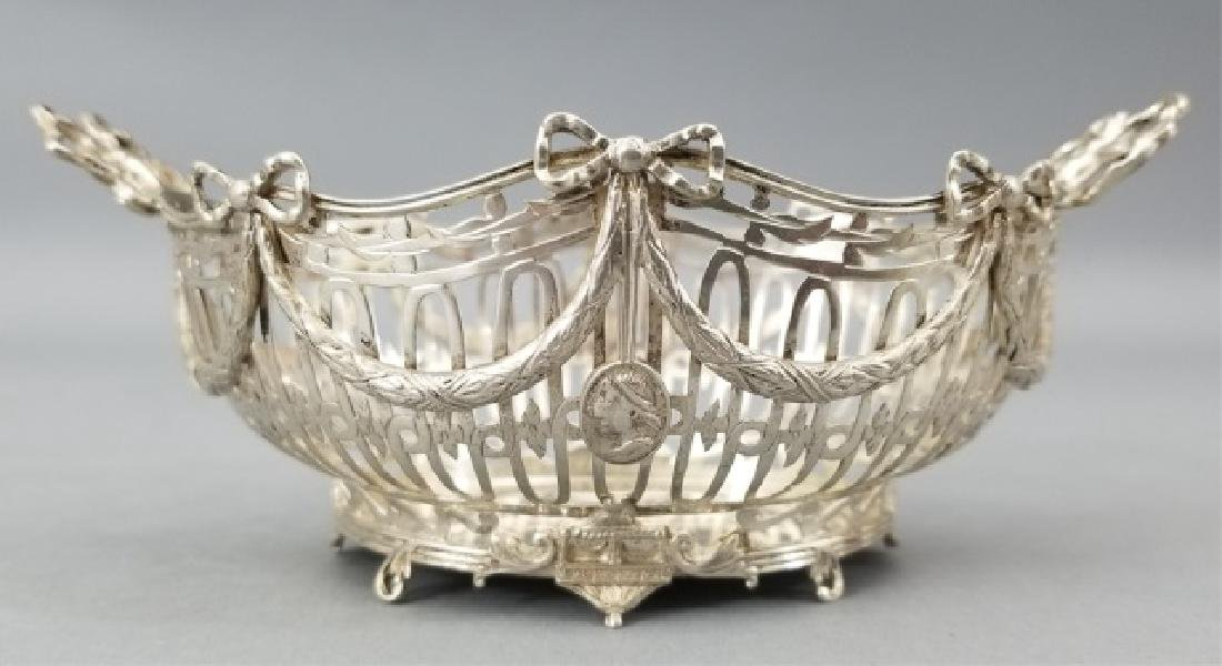 Antique Continental Neo Classical Silver Basket