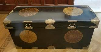 Chinese Hand Painted Lacquered Wood Console
