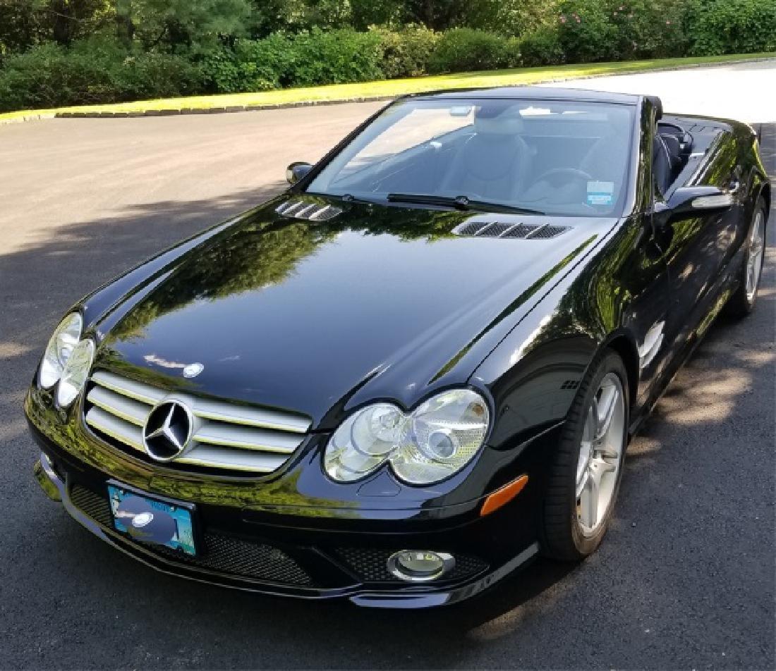 2008 Mercedes Benz Black SL600 Convertible