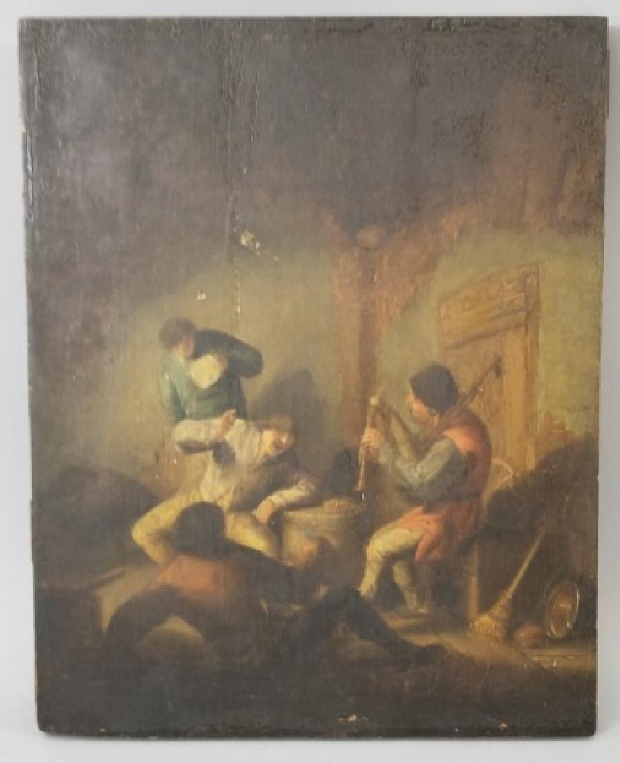 Adriaen von Ostade 17th C Dutch Painting on Board
