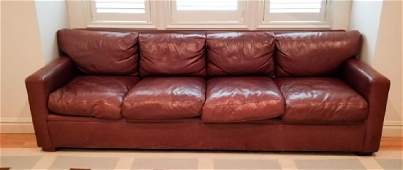 Contemporary Ralph Lauren Brown Leather Couch