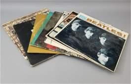 8 Vintage Vinyl Record Albums  Covers inc Beatles