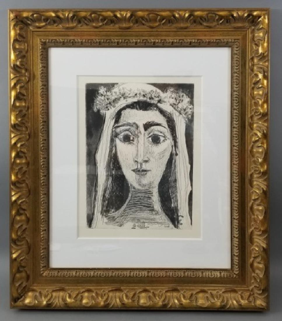 Picasso Drypoint Etching of Jacqueline en Mariee