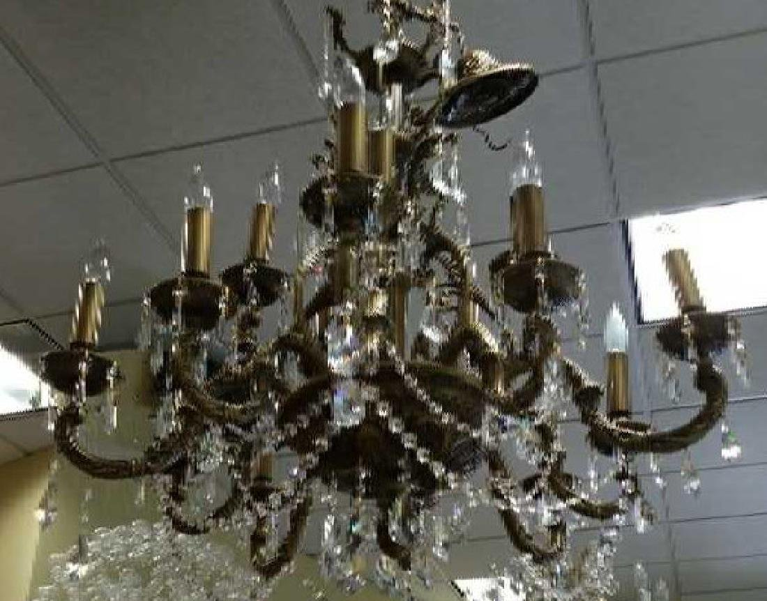 Ornate Contemporary Crystal 15 Arm Chandelier