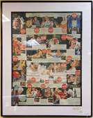 Large Framed Group of CocaCola Advertisements