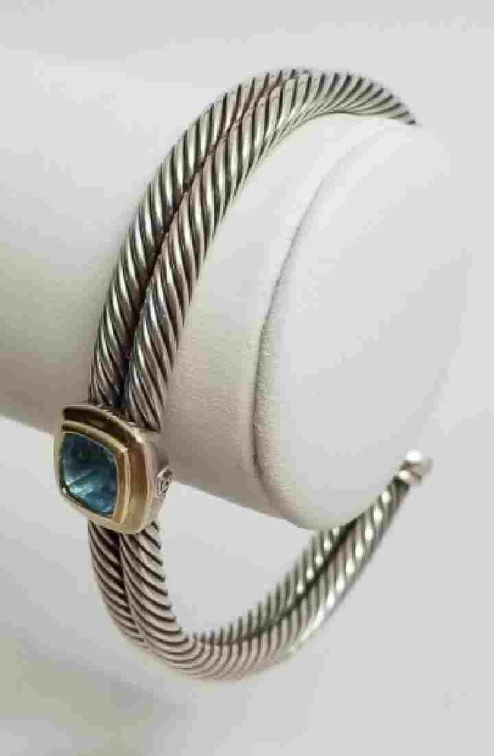 David Yurman Bracelet 14k Gold Sterling Turquoise