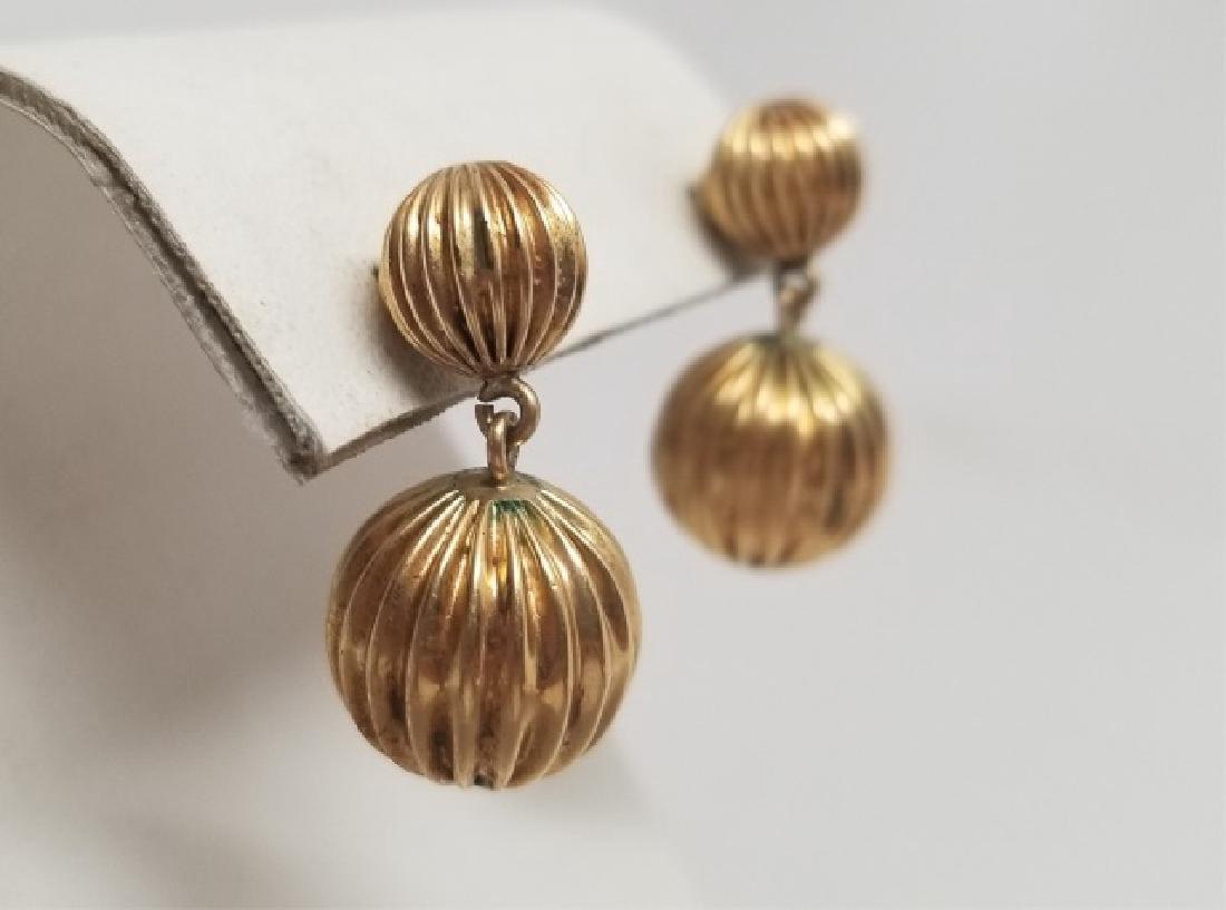 Estate 14k Gold Etruscan Revival Style Earrings