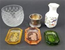 Cameo Glass Salt Cellars Votive  Aynsley Vase