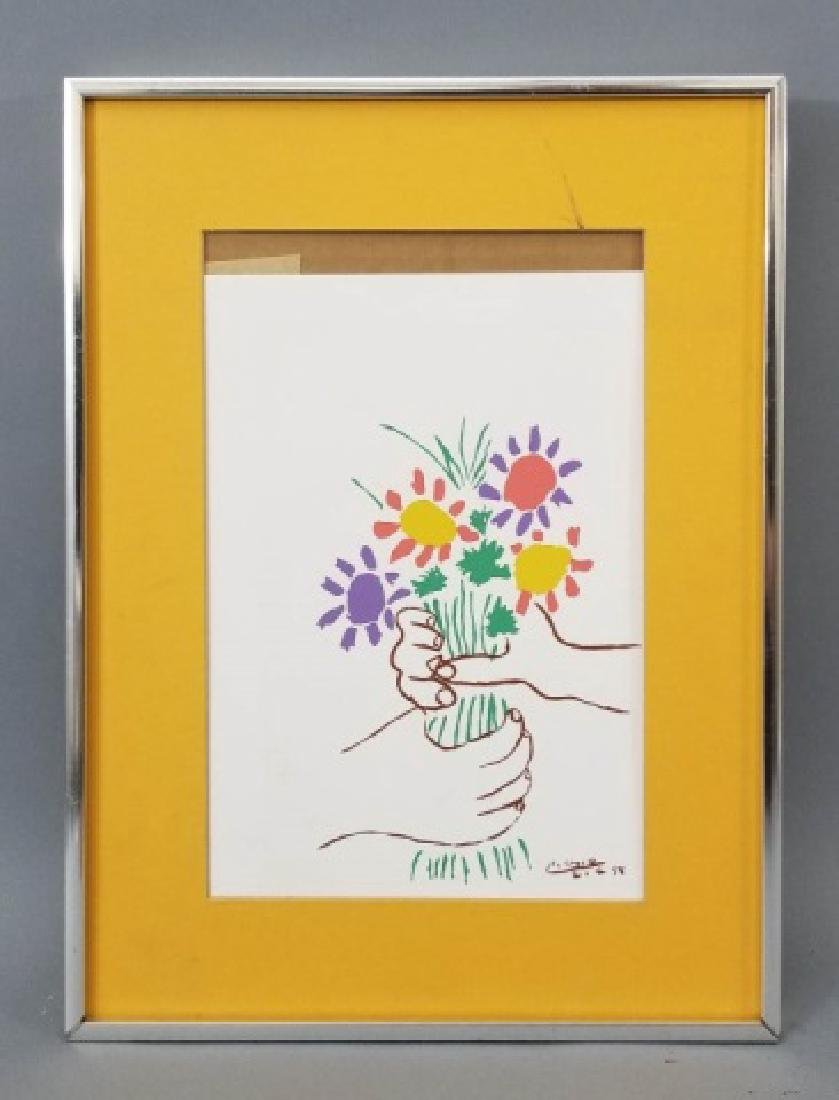Pablo Picasso Framed & Matted Lithograph