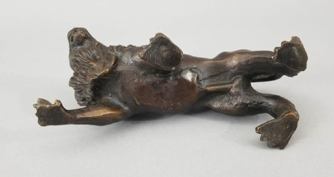 Bronze Table Statue - Detailed Roaring Pacing Lion - 2