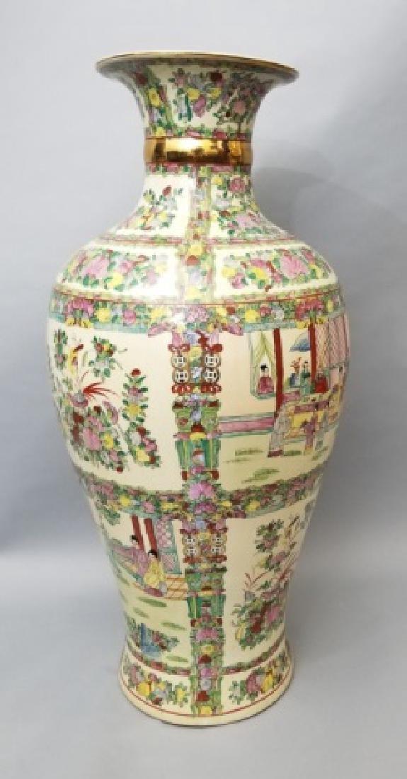 Palace Size Chinese Vase in Rose Medallion Pattern