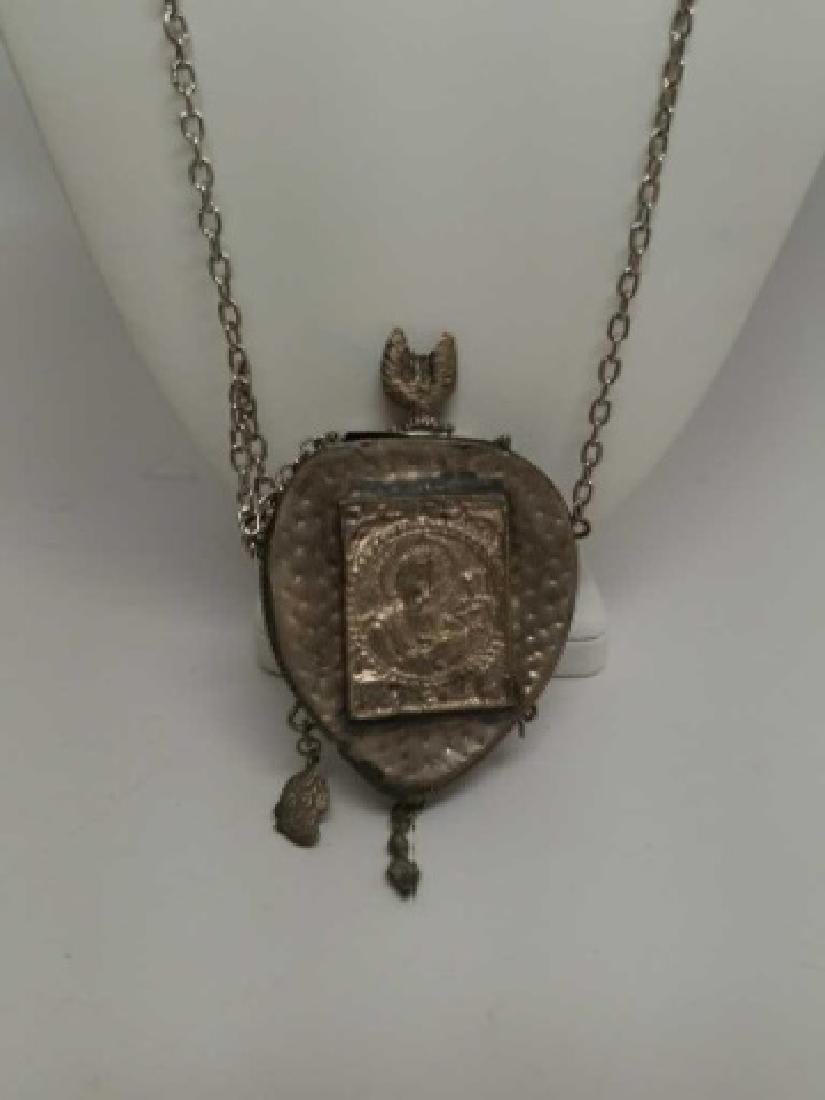 Antique Russian Religious Reliquary Pendant